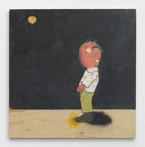 Old Artist Pissing At The Moon