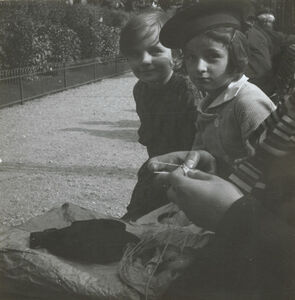 Untitled (Boy and Girl) with Knitting