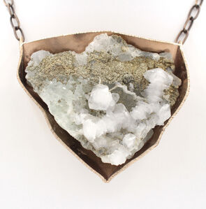 Calcite Pyrite Necklace