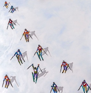 Skiers with Colors and Black (#329)