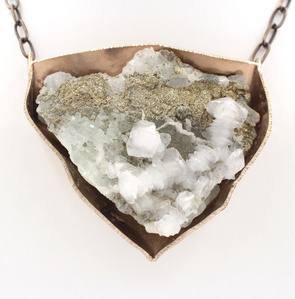 Calcite Pyrite Necklace