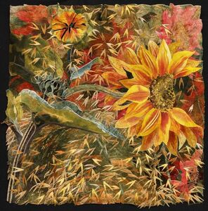 Sunflower with Stipa Gigantea