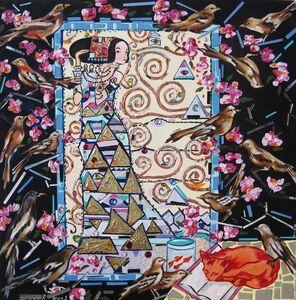 Klimt with found objects