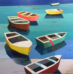 Colorful Boats in the Bay #14