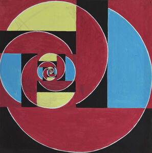 Untitled (Abstraction in Red, Black, Blue, and Yellow)