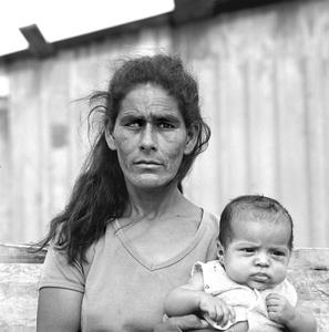 Blind Woman and Child, Colonia, Nuevo Laredo Mexico, April 19, 1993