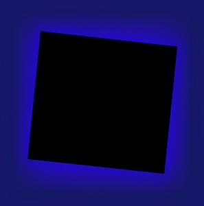 Eclipse azul. Serie Homenaje a Malevitch