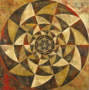 Lotus Spiral (Red)