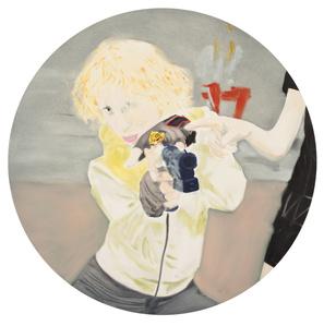 Madeleine with gun (Bulgari Ring)