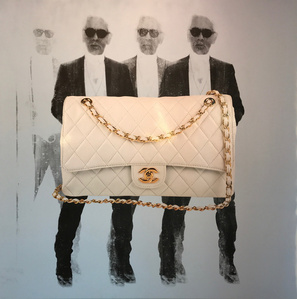 Karl with Chanel bag