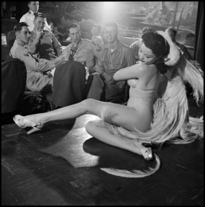 A stripper at Club Samoa. New York City
