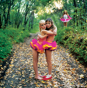 Xenia, Janna and Alona in the Woods, Russia