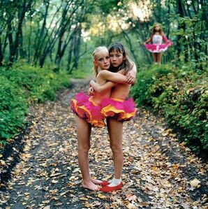 Xenia, Janna & Alona in the woods, Russia