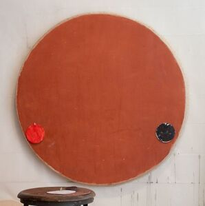 Red Oxide Circle with Red and Black Circles