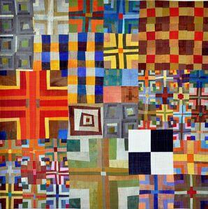 9 Patch Color Study Triptych B