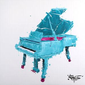 Piano Turquoise Et Rose