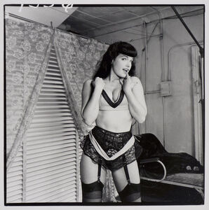 Bettie Page (with lace garter belt, front)