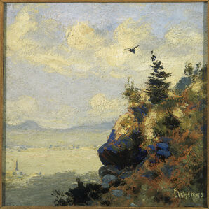 Summer Landscape with Hawk