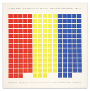 All Combinations of Red, Yellow, and Blue Straight & Broken Lines on Red, Yellow, and Blue