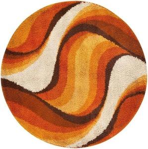 Vintage Swedish Deco Round Rug
