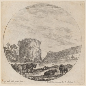 Landscape with Antique Ruins
