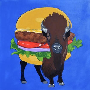 FAST FOOD BISON BURGER