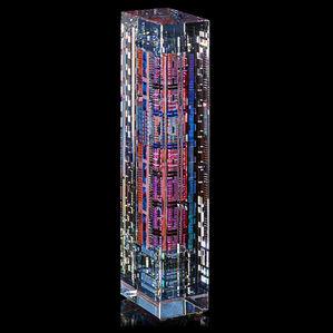 "Large sculpture, ""Mainframe #5,"" Winston-Salem, NC"