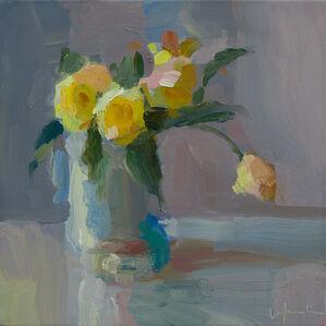 Yellow Tulips and Sea Salt Jar