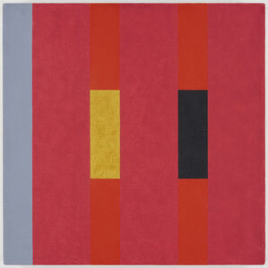 3x3 (yellow, deep greens, ochre on pink) (197)
