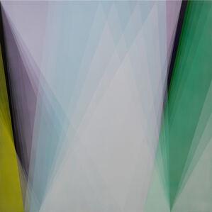 Untitled (cyan-lilac-green)