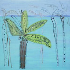 Untitled/River/ Banana Leaves