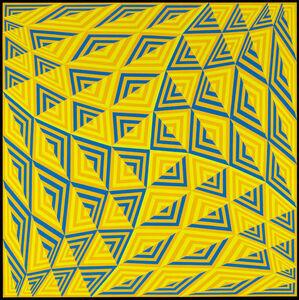 Sin título (Pantone Amarillo 124, Azul 285, Verde 3965)