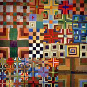 9 Patch Color Study Triptych A