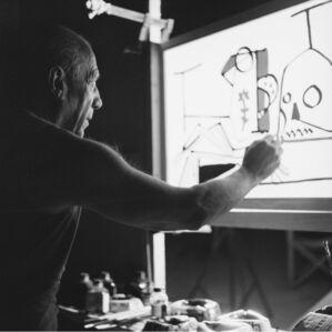 Picasso on set, Le mystère Picasso, Studios de la Victorine, Nice, France