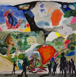 Niños visitando el gran cuadro de Carlos Franco en el Museo Waldorffer