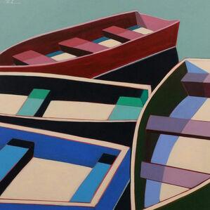 Summer Abstract Boats