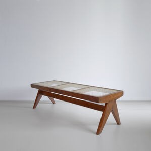 PJ-SI-33-C Caned Bench
