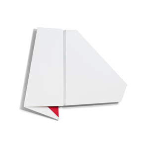 Large White & Red Folded Flat 01