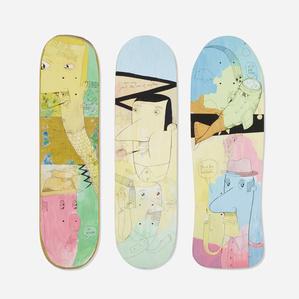 skateboard decks, set of three