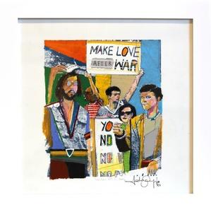 Make Love After War (framed)
