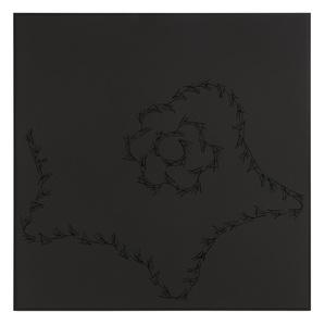 Lines on black ( Marisol, Warhol, Lichtenstein )