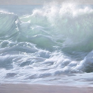 the foam of the waves, part 1 of a diptych