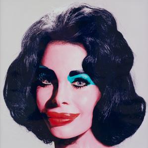 Amanda as Warhol's Liz