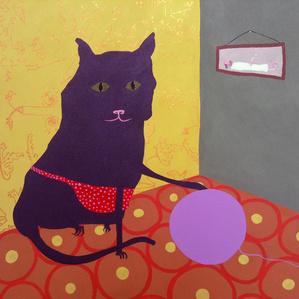 Cute cat painting