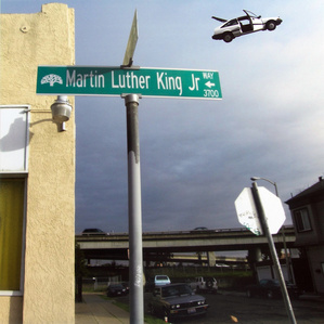 Untitled (Martin Luther King Blvd. and Flying Honda)