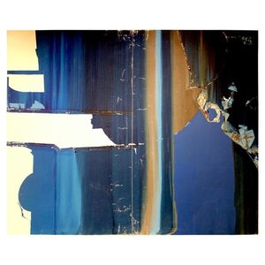 Monumental Untitled Blue and White Abstract