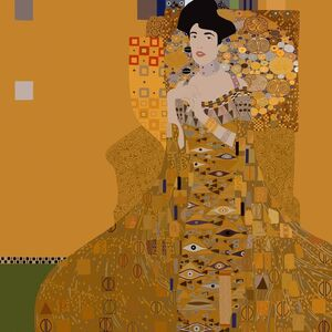 Adele Bloch-Bauer I (by Gustav Klimt)