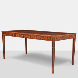 Carl Malmsten Desk with Brazilian Rosewood Inlay
