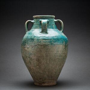 Parthian Turquoise-Glazed Terracotta Jar