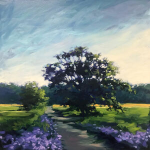 Blue Cornflowers along the Path